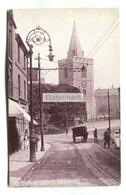 Mansfield - St Peter's Church, Street Scene, Ornate Lamp - Old Postcard, Y. M. C. A. Series - Altri