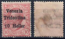TERRE REDENTE 1918 TRENTINO ALTO ADIGE FRANC. MICHETTI SOPR. 'VENEZIA TRIDENTINA' H. 10 SU C. 10 - SG - SASSONE 29 - Trentino