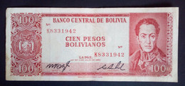 Banknote, Used, From Bolivia, Year 1962 (read Text) - Bolivia