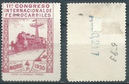 ESPAGNE SPANIEN SPAIN ESPAÑA 1930 RAILWAYS FERROCARRILES 4ptas NOT CANCEL WITH HINGED ED 480 YT 440 MI 455 SG 545 SC 384 - 1931-50 Usati