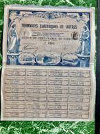 Cie  Nationale  De  TRAMWAYS  ÉLECTRIQUES  Et  AUTRES  ----------Action  De  100 Frs - Chemin De Fer & Tramway