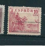 N° 579A Le Cid Campeador Timbre Espagne (1937) Oblitéré - 1931-50 Usati