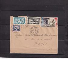Lettre Postée à Saigon En 1949 En Direction De Paris 4 Oblitérations Ronde 2 Scans Abimée Au Dos  (192) - Storia Postale