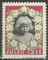 Denmark Christmas Seal 1911 ☀ Unused MNG Stamp - Vignette - Unused Stamps