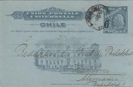 Chili Entier Postal Illustré Pour L'Allemagne 1910 - Chile