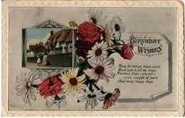 GB 1925 KG V Postcard Tipton CDS Birthday Card - Covers & Documents
