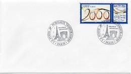 N° 3291 Cachet Commémoratif La Poste Bureux Temporaires 01/01/2000 Paris - Gedenkstempels