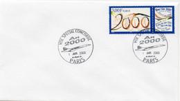 N° 3291 Cachet Commémoratif Vol Spécial Concorde 01/01/2000 Paris - Gedenkstempels