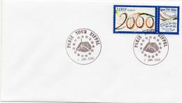 N° 3291 Cachet Commémoratif Paris Tour Eiffel 01/01/2000 Paris - Gedenkstempels