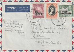 Tanganyika Lettre Pour La Suisse 1954 - Tanganyika (...-1932)