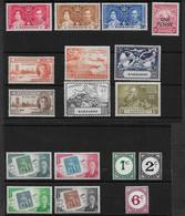BARBADOS 1937 - 1953 SETS MOUNTED MINT Cat £15+ - Barbados (...-1966)