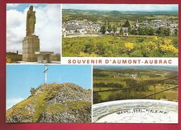 CP 48 Souvenir D'Aumont Aubrac Multivue Le Sacré Coeur Table D'Orientation Du Roc De Peyre - Ed BOS Ytrac 48-195 - Aumont Aubrac