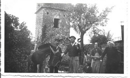 Ancienne Photo à St Laurent Des Batons ANIMATIONS : Promenade Du Cheval ... 11,5 X 7 Cm - Andere Gemeenten