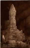GB 1925 KG V Postcard Cheddar Single Circle Pillar Of Marble Goughs Caves Cheddar - Covers & Documents
