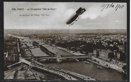 Carte P De 1910 ( Le Dirigeable Au-dessus De Paris & Passy ) - Aeronaves