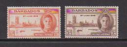 BARBADOS    1946    Victory    Set  Of  2    MNH - Barbados (...-1966)