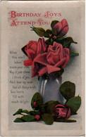 GB 1919 KG V Postcard North Petherton Somerset Thimble CDS Birthday Joys Attend You - Covers & Documents