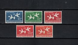 Guinea 1959 Michel 26-30 Definitives, Racing Pigeons Set Of 5 MNH - Guinee (1958-...)