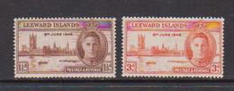 LEEWARD  ISLANDS    1946    Victory    Set  Of  2    MNH - Leeward  Islands
