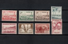 Guinea 1959 Michel 8-15 Definitives, Local Motives Set Of 8 MNH - Guinee (1958-...)