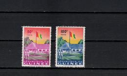 Guinea 1959 Michel 24-25 Flag Raising Set Of 2 MNH - Guinee (1958-...)