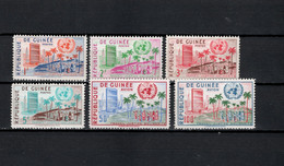 Guinea 1959 Michel 31-36 One Year Membership United Nations Set Of 6 MNH - Guinee (1958-...)