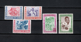 Guinea 1960 Michel 37-41 National Healthcare Set Of 5 MNH - Guinee (1958-...)