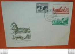 DDR 628-630 Landwirtschaftsausstellung - Maschinen - Kuh Tiere - FDC (Foto)(71771) - FDC: Briefe