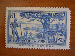Cote D'Ivoire N° 126 Neuf ** 1 Dent Courte - Unused Stamps