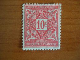 Cote D'Ivoire N° T 10 Neuf ** - Unused Stamps