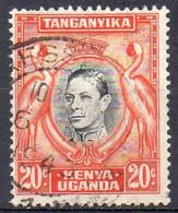 KENYA OUGANDA TANGANYIKA N° 54 Y&T O 1938 Grue Et Effigie George VI - Kenya, Uganda & Tanganyika