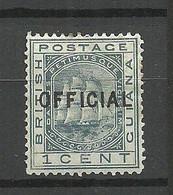 British Guiana GUYANE Guayana 1877 Michel 6 * Duty Tax Dienstmarke Fregatte - British Guiana (...-1966)