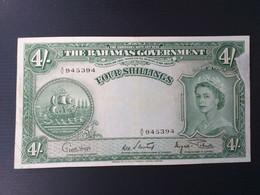 BAHAMAS 4 SHILLINGS 1953(miss Paper) - Bahamas