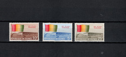 Guinea 1961 Michel 77-79 3rd Independence Anniversary, Three Year Plan Set Of 3 MNH - Guinee (1958-...)