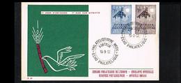 1957 - Belgium FDC - Cancel Kortrijk - Europe CEPT [P15_770] - 1951-60