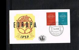 1959 - Belgium FDC - Cancel Brussel - Europe CEPT [P15_533] - 1951-60