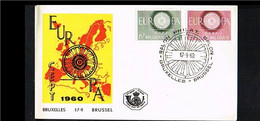 1960 - Belgium FDC - Cancel Bruxelles-Brussel - Europe CEPT [P15_540] - 1951-60