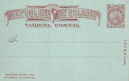 BOLIVIE  ENTIER POSTAL/GANZSACHE/POSTAL STATIONERY CARTE - Bolivien