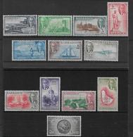 BARBADOS 1950 SET SG 271/282 LIGHTLY MOUNTED MINT Cat £55 - Barbados (...-1966)