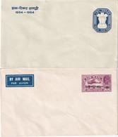INDE    ENTIER POSTAL/GANZSACHE/POSTAL STATIONERY LOT DE 2 ENVELOPPES - 1911-35 King George V