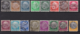 16  Timbres   Oblitérés   Deutsches  Reich   Germany 1932-33 Président Hindenburg - Used Stamps