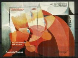 2021. Art Contemporani (Joan Monegal) Peintre Catalan.Pintor Catalán. Hojita Nueva ** / B-F Neuf **. Haute Faciale - Blocks & Kleinbögen