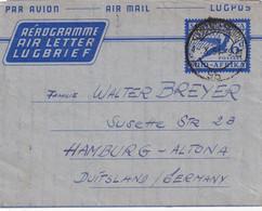 AFRIQUE DU SUD 1954    ENTIER POSTAL/GANZSACHE/POSTAL STATIONERY AEROGRAMME DE JOHANNESBURG - Covers & Documents
