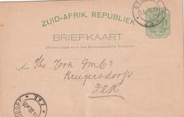 TRANSVAAL 1899   ENTIER POSTAL/GANZSACHE/POSTAL STATIONERY CARTE DE BELFAST - Transvaal (1870-1909)