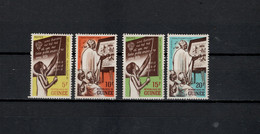 Guinea 1962 Michel 134-137 Fight Against Illiteracy Set Of 4 MNH - Guinee (1958-...)