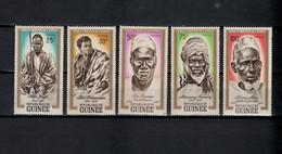 Guinea 1962 Michel 138-142 Heroes Set Of 5 MNH - Guinee (1958-...)