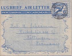 AFRIQUE DU SUD  1951 ENTIER POSTAL/GANZSACHE/POSTAL STATIONERY PLI AERIEN DE PIETERMARITZBURG - Covers & Documents