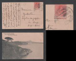SANTANDER SARDINERO Picture Postcard Spain ALFONSO XIII 10c Error - Covers & Documents