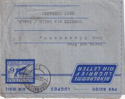 AFRIQUE DU SUD  1955 ENTIER POSTAL/GANZSACHE/POSTAL STATIONERY PLI AERIEN DE JOHANNESBURG - Covers & Documents