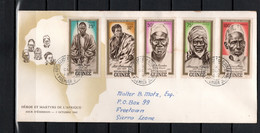Guinea 1962 Michel 138-142 Heroes Set Of 5 On FDC - Guinee (1958-...)